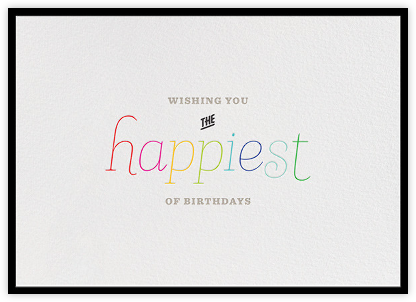Rainbow Birthday - bluepoolroad - Online greeting cards