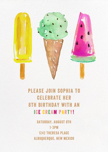 Kids birthday online at Paperless Post