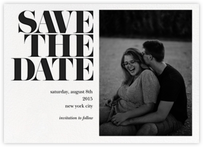 Vintage Book Save the Date (Photo) - Black - kate spade new york - Save the dates