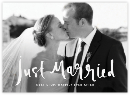 Just Married - kate spade new york - Wedding thank you cards
