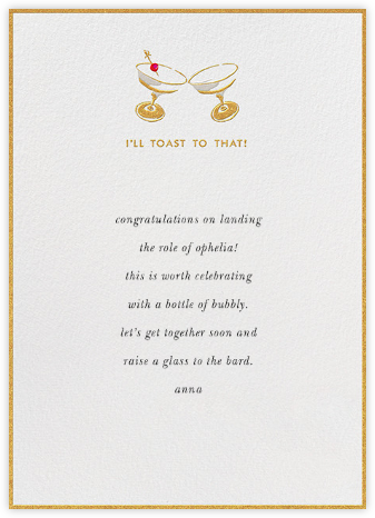 I'll Toast to That - kate spade new york - Online Greeting Cards
