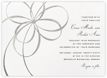 Belle Boulevard (Invitation) - Silver - kate spade new york - Online Wedding Invitations