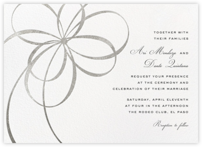 Belle Boulevard (Invitation) - Silver - kate spade new york - Wedding Invitations