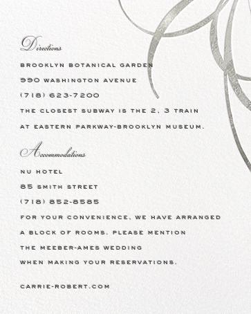 Belle Boulevard (Invitation) - Silver - kate spade new york - All - insert front
