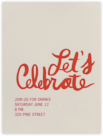 Let's Celebrate - Red - Linda and Harriett - Autumn entertaining invitations