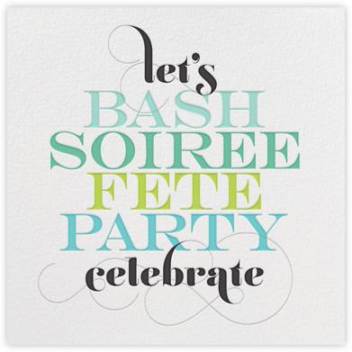 Party Talk - Green - bluepoolroad - bluepoolroad invitations