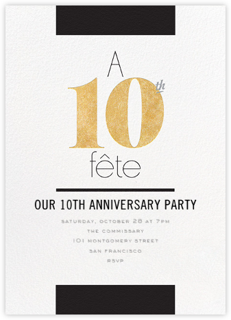 Foiled Fête (Ten) - Gold - bluepoolroad - bluepoolroad invitations and cards