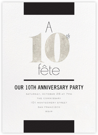 Foiled Fête (Ten) - Silver - bluepoolroad - bluepoolroad invitations and cards