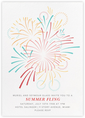 Skybursts - White - Paperless Post - Summer Party Invitations