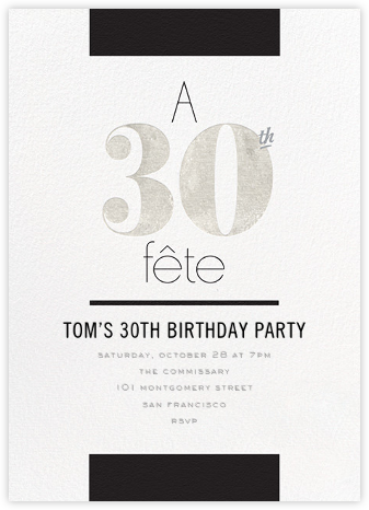 Foiled Fête (Thirty) - Silver - bluepoolroad -