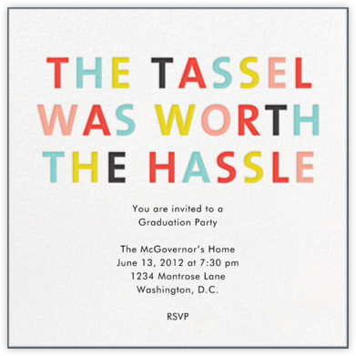 The Tassel - Japanese Mix - Mr. Boddington's Studio - Celebration invitations