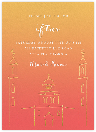 Masjid at Dusk (Invitation) - Paperless Post - Online Party Invitations