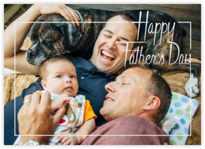 Dad's Favorite Frame - White - Paperless Post - Father's Day cards