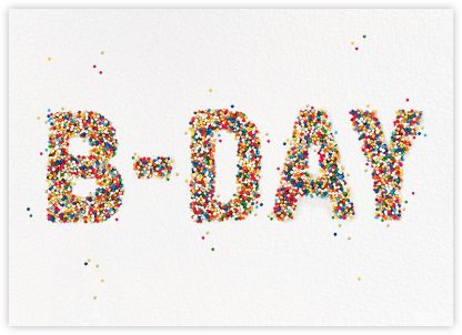 B-Day Sprinkles - kate spade new york - Online Greeting Cards