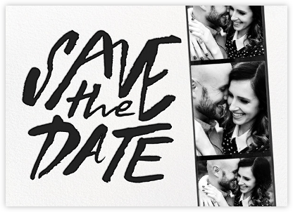 Photo Booth Save the Date - Black - kate spade new york - Save the dates
