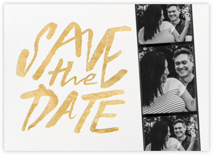 Photo Booth Save the Date - Gold - kate spade new york - Modern save the dates
