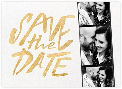 Photo Booth Save the Date - Gold - kate spade new york - Gold and metallic save the dates