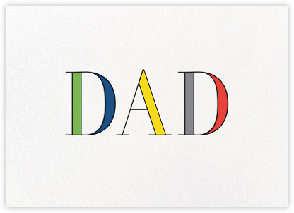 Rainbow Dad - kate spade new york - Father's Day Cards