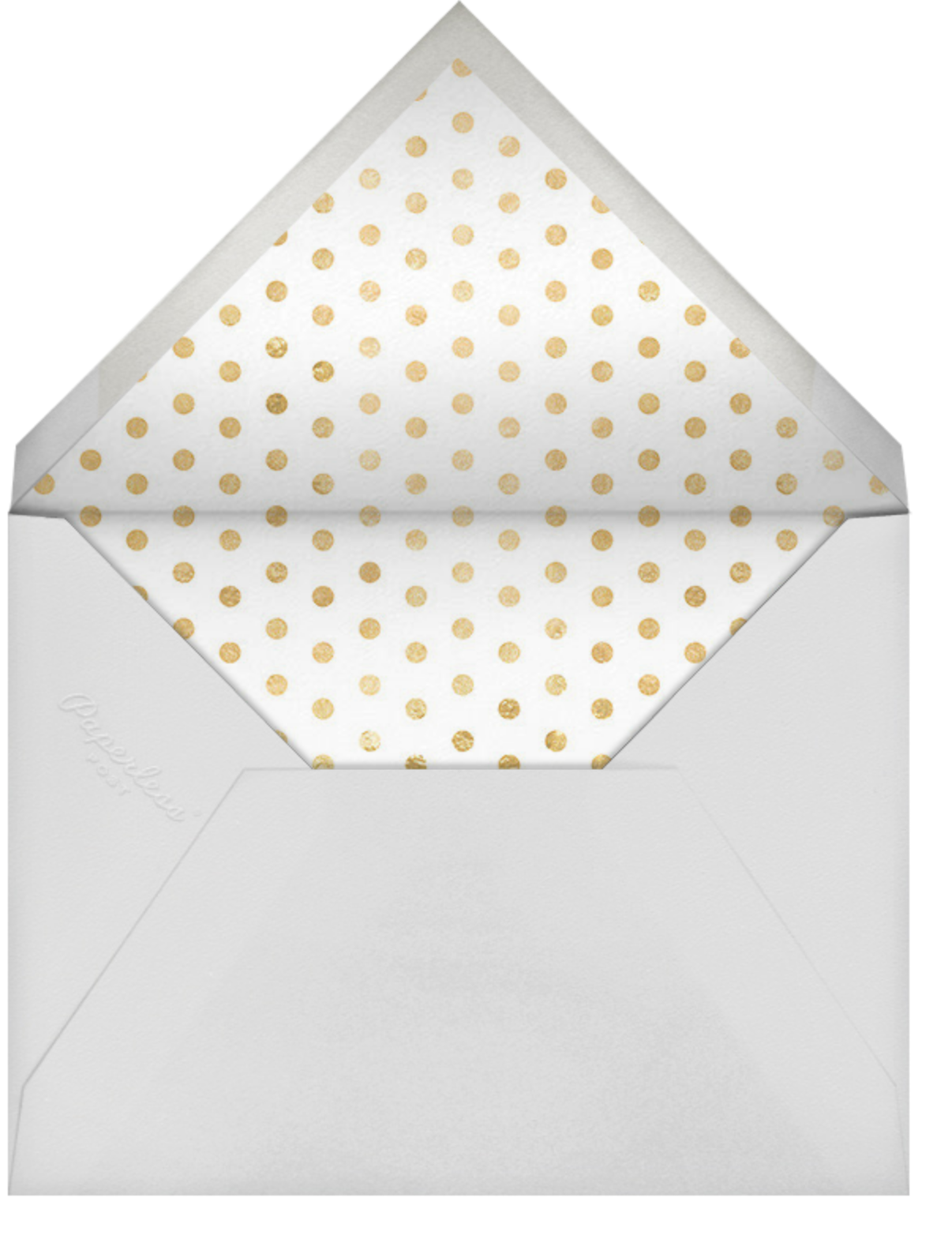Daisy Place Birthday - Taupe - kate spade new york - First birthday - envelope back