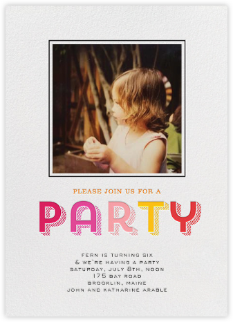 Contour Party (Photo) - Pink - bluepoolroad - bluepoolroad invitations and cards