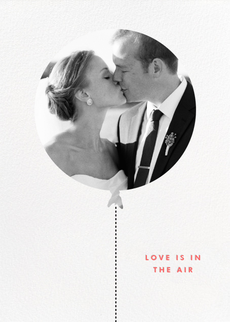 Love Is in the Air (Photo) - kate spade new york - Wedding thank you notes