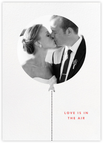 Love Is in the Air (Photo) - kate spade new york - Wedding thank you cards