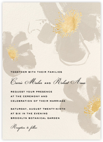 Poppies - Taupe  - kate spade new york - Kate Spade invitations, save the dates, and cards