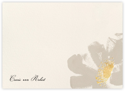 Poppies (Stationery) - Taupe | null