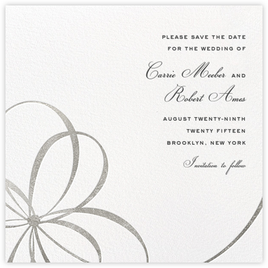 Belle Boulevard (Save the Date) - Silver - kate spade new york - Save the dates