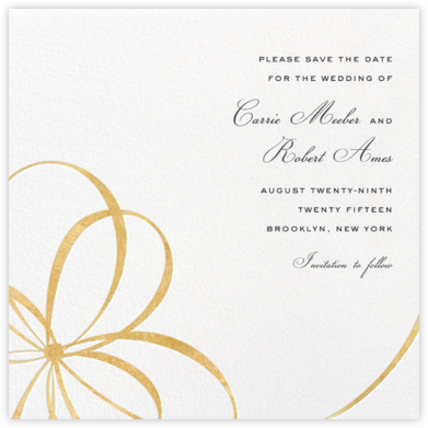 Belle Boulevard (Save the Date) - Gold - kate spade new york - Kate Spade invitations, save the dates, and cards