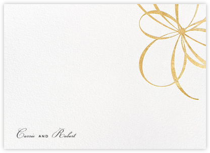 Belle Boulevard (Stationery) - Gold - kate spade new york - kate spade new york stationery