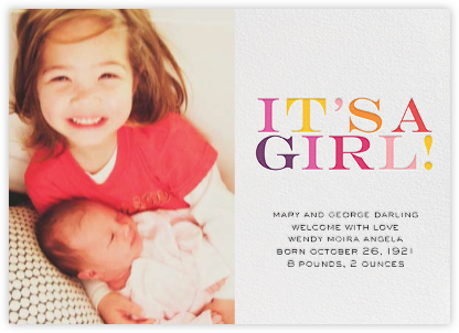 It's a Girl (Photo) - bluepoolroad - bluepoolroad invitations and cards