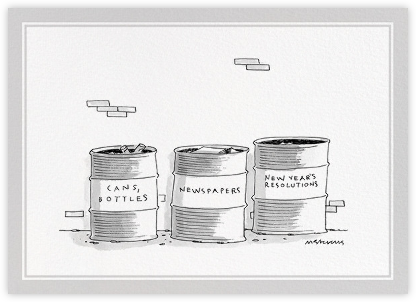New Year's Resolutions - The New Yorker - New Year cards