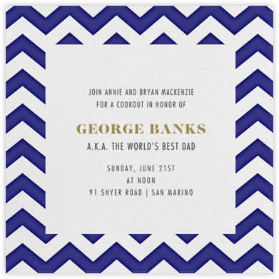 Chevrons (Square) - Blue - Paperless Post - Father's day invitations