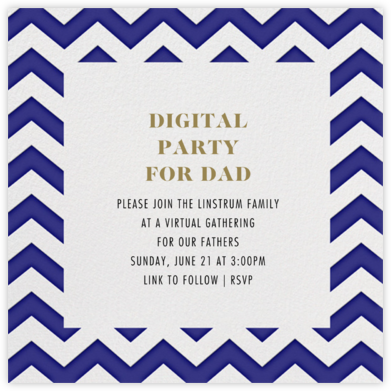 Chevrons (Square) - Blue - Paperless Post - Virtual Parties