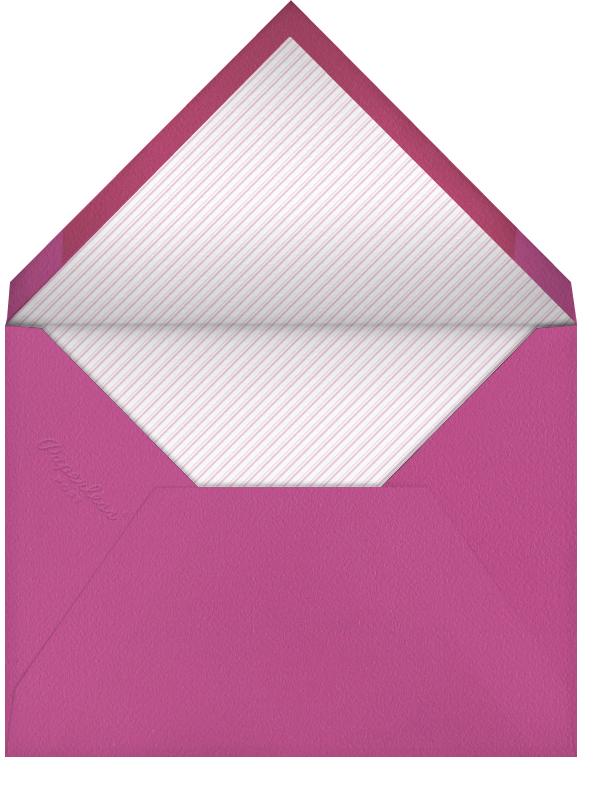Bar Lines - Black - Crate & Barrel - Party save the dates - envelope back