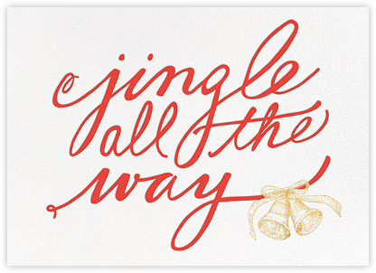 Jingle All the Way - kate spade new york - Kate Spade invitations, save the dates, and cards