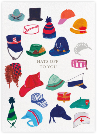 Hats Off - Mr. Boddington's Studio - Online Greeting Cards