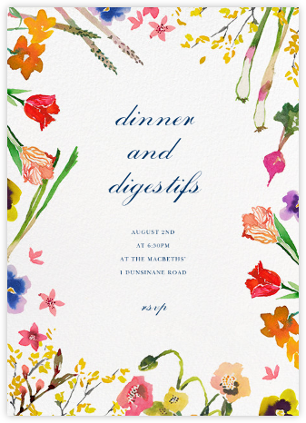 Spring Market - Happy Menocal - Dinner Party Invitations