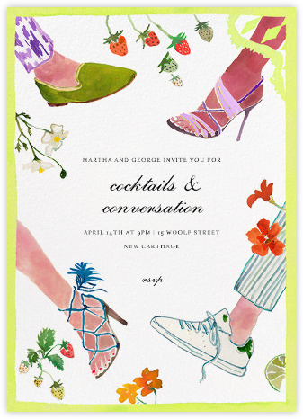 Garden Mixer - Happy Menocal - Summer Party Invitations