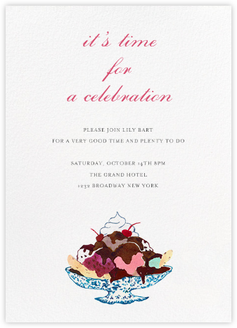 Sundae Split - Happy Menocal - Summer Party Invitations