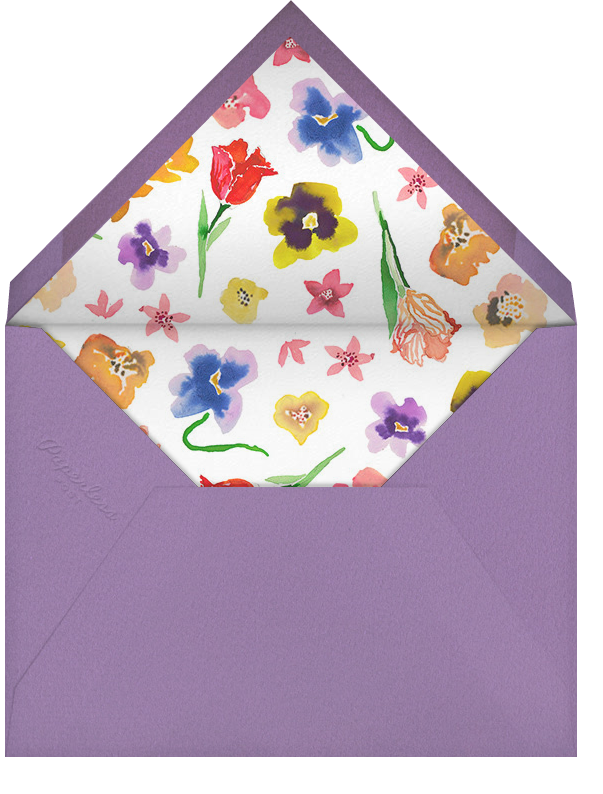 Donkey in the Meadow - Happy Menocal - Spring entertaining - envelope back