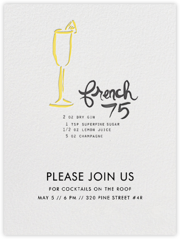 French 75 - Linda and Harriett - Business Party Invitations