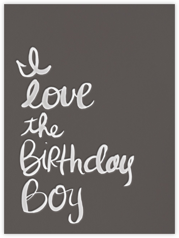 I Love the Birthday Boy - Linda and Harriett - Birthday cards