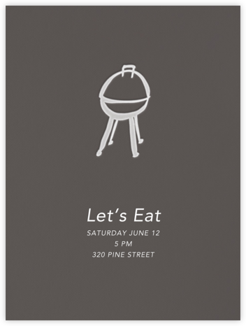 Let's Eat - Linda and Harriett - Summer entertaining invitations