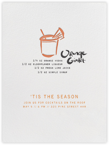 Orange Gimlet - Linda and Harriett - Happy Hour Invitations