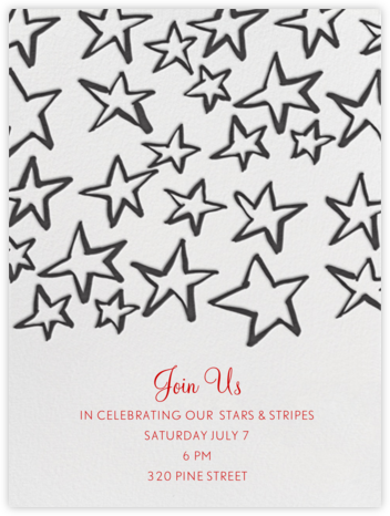 Celebration Stars - Linda and Harriett - Summer Party Invitations