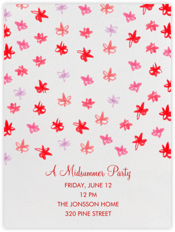 Watercolor Flowers - Linda and Harriett - Summer Party Invitations