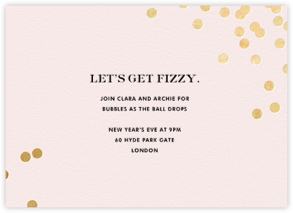 Confetti - Blush/Gold - kate spade new york - New Year's Eve Invitations