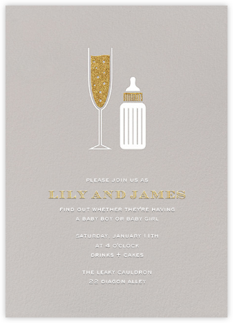 Sip & See - Oyster - Paperless Post - Baby Shower Invitations